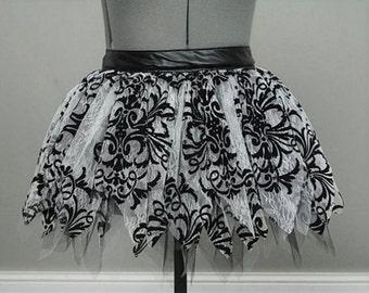 Custom full gathered lace skirt