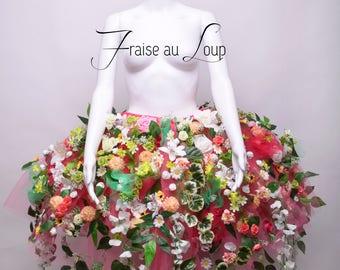 Tutu Skirt Flowers - Hoops - Fantasy Fairytale Princess dress Dream Fae