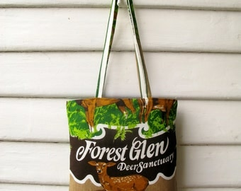 Deer Sanctuary Linen Tote Bag