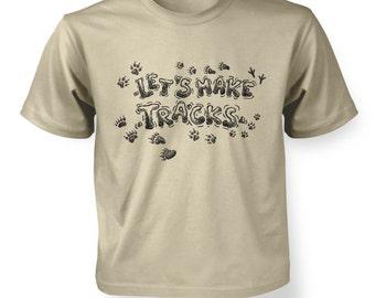 Let's Make Tracks kids t-shirt