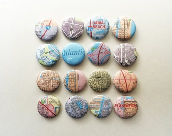 Adventurer, Explorer, Traveler, Map Pins // 1 inch pin back button