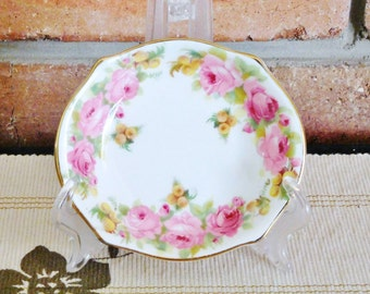 Royal Doulton 1931 Roses and Wattle porcelain pin dish small bowl pattern H3609, high tea, gift idea