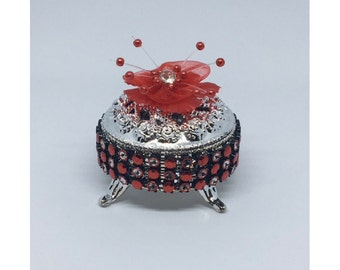 Red black silver Etsy