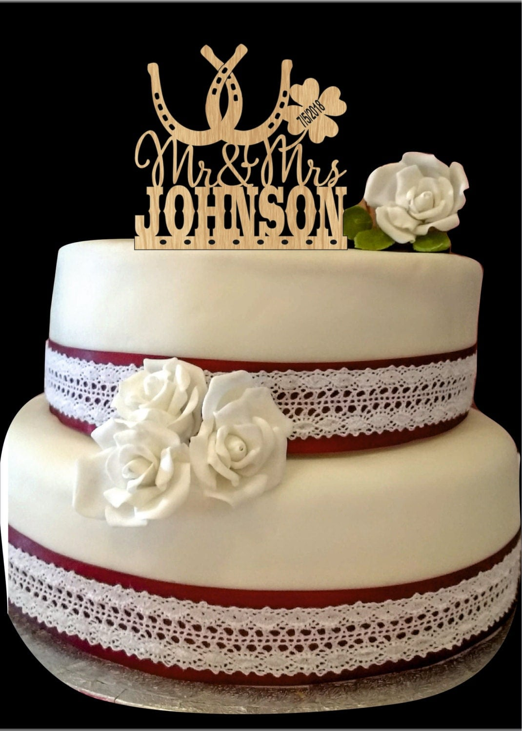horseshoe wedding cake toppers horseshoe wedding cake topper country wedding cake topper 15319
