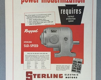 1951 Sterling Electric Motors Print Ad