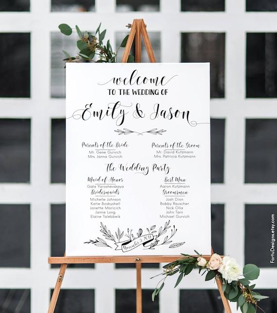 Rustic Wedding Program Sign Printable Signs