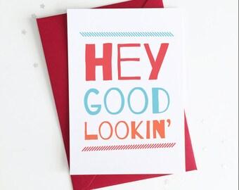 Funny Pregnancy Reveal Card for Husband / Partner / Boyfriend - Hey Good Lookin' We've Got a BABY Cookin'