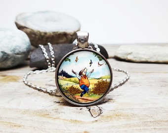 Mole necklace wind in the willows necklace 80s cartoon fan jewelry mr toad necklace ratty necklace  badger necklace wind willows jewelry