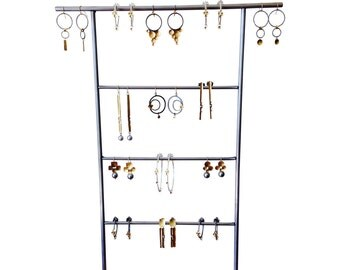 Earring holder - Metal and Wood Jewelry Display for Craft Show Display or Retail Display