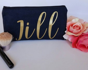Personalized Make Up Bag - Best Friend Gift - Bridesmaid Gift - Custom Makeup Bag - Bridesmaid Makeup Bag - Cosmetic Bag - Zipper Bag