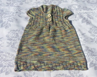 Bespoke Hand Knitted Dress - Baby - 9 to 18 Months - Made to Order