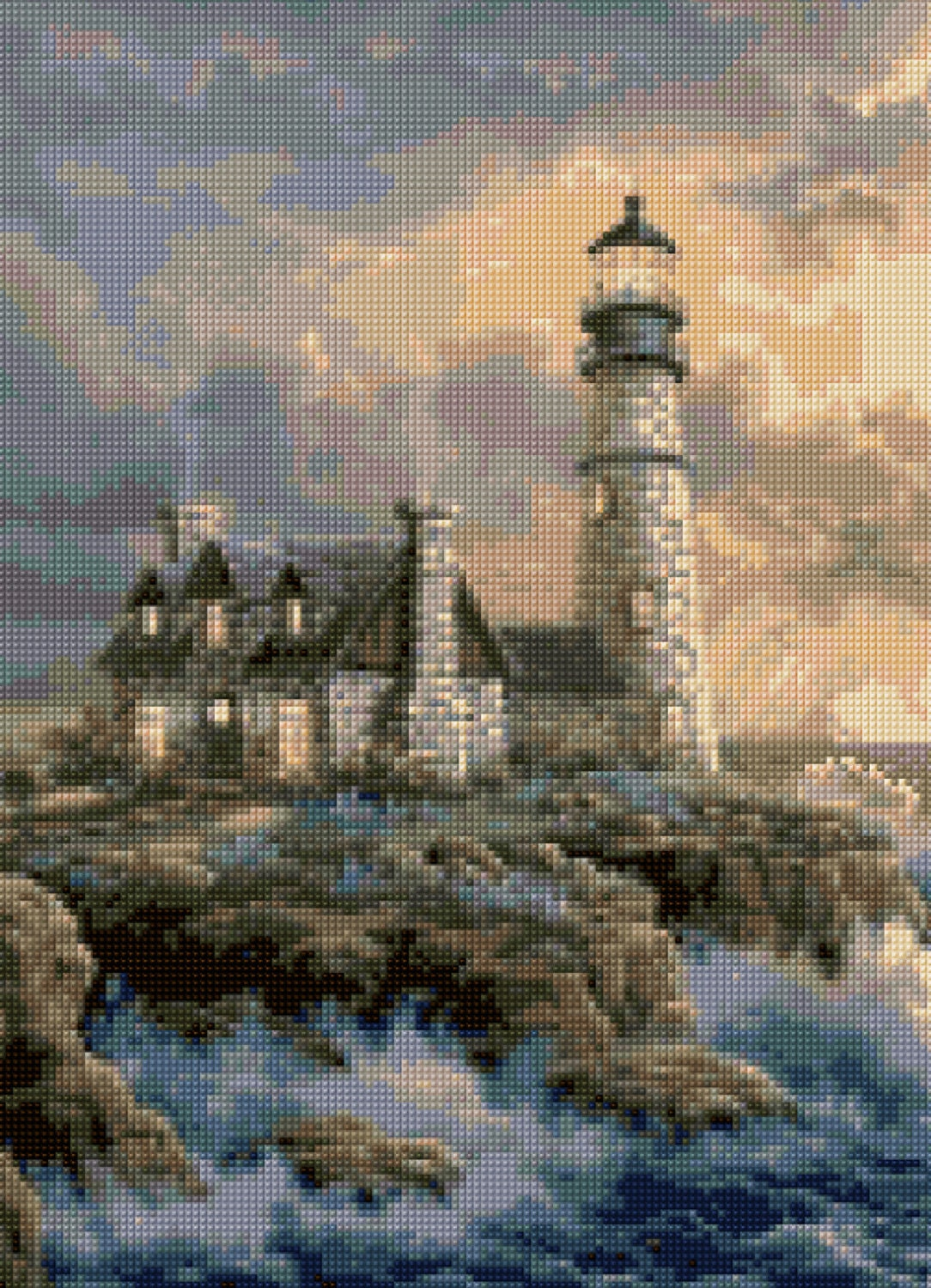 Lighthouse Landscape Cross Stitch Pattern Pdf Easy Chart