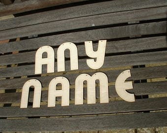 Laser Cut Plywood Letters - Make any word or phrase you want!
