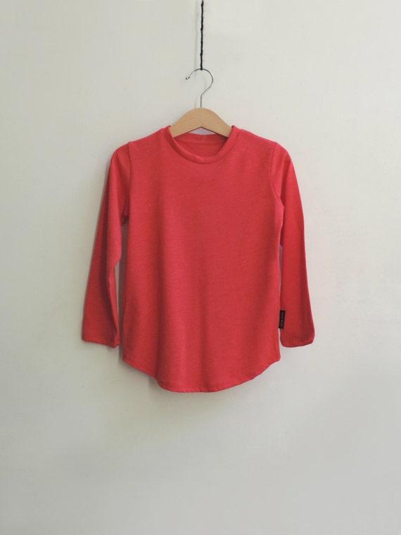 Red Long Sleeves T-Shirt, Boys Red T-Shirt, Girls Red T-Shirt, Baby Red T-shirt, Toddlers Long Sleeves T-Shirt - by Petit Wild