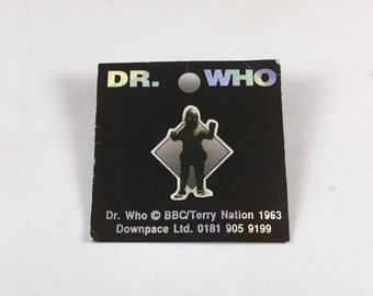 Dr Who Pin, Vintage, Ice Warrior, Licensed by BBC, 1970s, Tie Pin, Tie Tack, Lapel Pin, Martian Reptile, Original Card