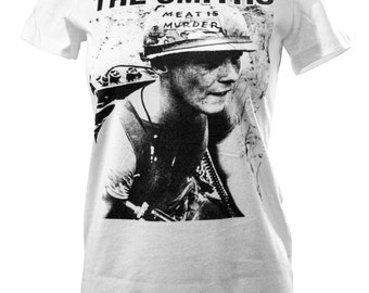 The Smiths Shirt, Meat Is Murder T Shirt Ladies / Teen Fit Super Soft Comfy Tee,Smiths Shirt,The Smiths Tee,T-Shirt,Tee,TShirt
