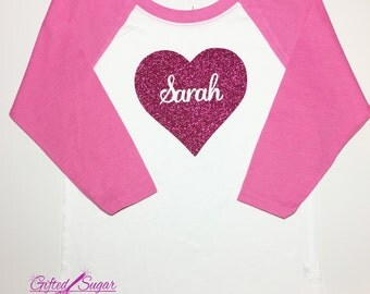 Pink Heart Valentine's Day Shirt, Sparkling Heart, Valentine, Kids Valentine's shirt, , Boys Valentine's Shirt, Girls Valentine's Shirt