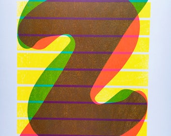 3-color Neon Two Print