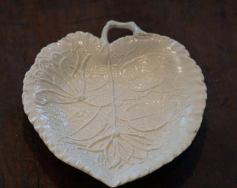 Wedgwood Honeysuckle Leaf Tray/ Salt Glaze/ Colonial Williamsburg Reproduction