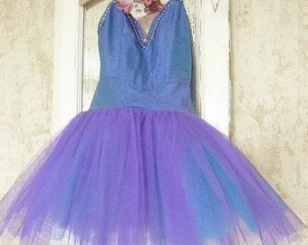 Lovely vintage ballet costume, ballet dress, tutu, original pancake, shabby, boudoir ....CHARMANT!