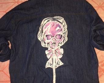 Skull Lollipop Hand Painted Jacket