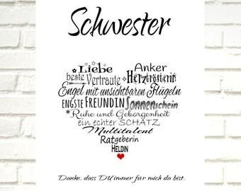 """Print / Druck """"SISTER heart"""""""