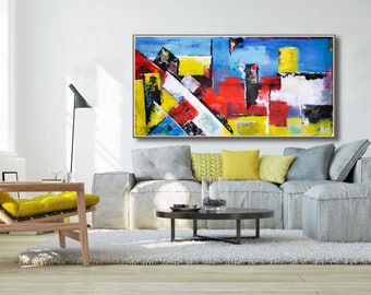 large Abstract Painting - Contemporary Wall Art Decor,Painting on Canvas,contemporary fine art