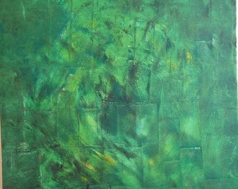 Modern Art Abstract Green Painting Abstract Art Circle Home Decor Art, Wall decor Wall Art 70X50 cm