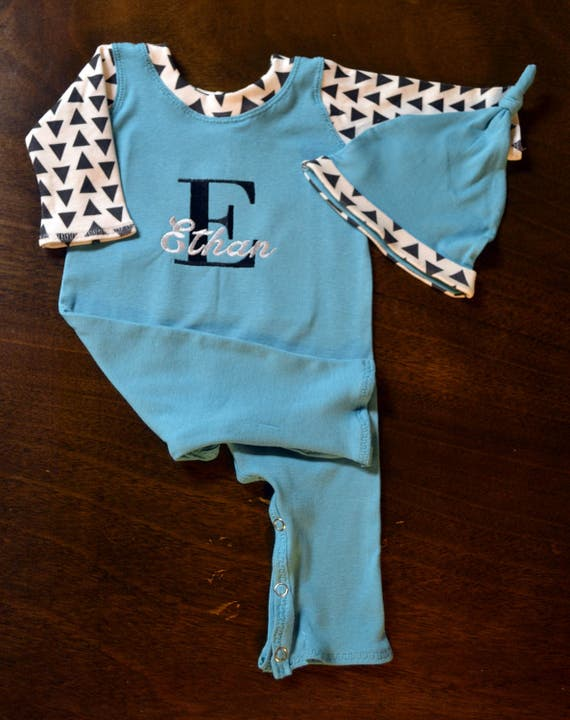 Personalized, Custom Made Baby Outfit, Upscale Baby Outfit, Going Home Outfit Boy-Baby Shower Gift Boy-Coming Home Outfit Boy