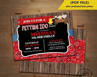 Petting zoo party Etsy