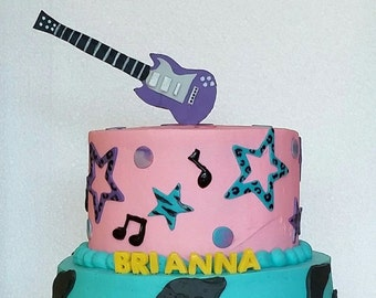 Rock and roll cake Etsy