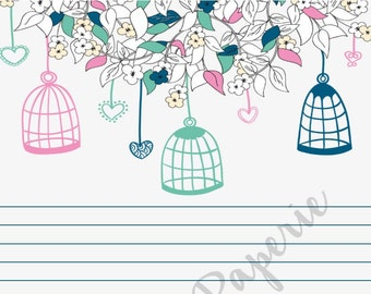 Bird Cages- A5 Stationery - Writing Paper