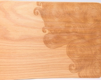 Waves - Rockerboard with engraving