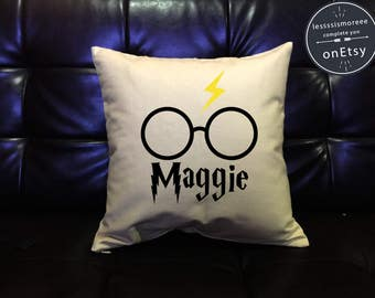 Personalized Harry Potter Pillow cover Handmade pillow, Dumbledore Quote Pillow Cover, cotton canvas pillow cover ,Flock Flex