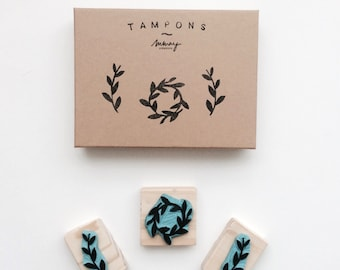 TAMPONS - Mmay Créations - print FLORAL - handmade gift