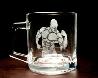 Fitness sport mug bodybuilding, a gift for the athlete