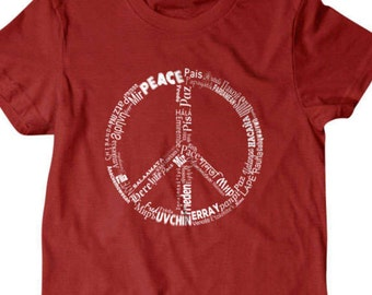 Peace t-shirt Peace sign Funny T Shirts for Men and Women | T Shirts for Boyfriend & Husband | Gifts for Dad | PorpoiseTees