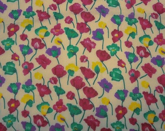 "Dressmaking Fabric, Multicolor Floral Print, Beige Fabric, Home Decoration, 44"" Inch Chiffon Fabric By The Yard ZBCH126A"