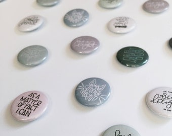 """1"""" Buttons in various designs"""
