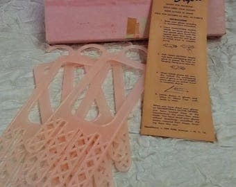 Vintage Glove Dryers, Handiform 5th Ave, Pink Plastic - Two Pairs, Original Box & Instructions