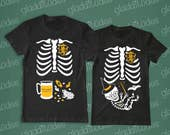 Harry Potter (baby wizard) - non maternity option - and Dad-to-be Skeleton T-shirts