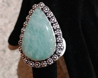 Amazonite Ring Size 8