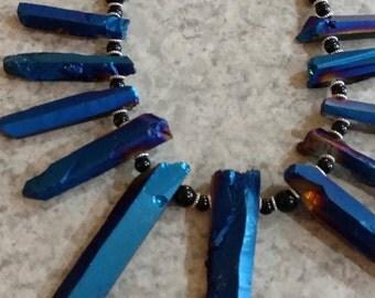 Titanium Druzy Pendant Necklace
