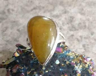 Golden Sun Opal Ring Size 10