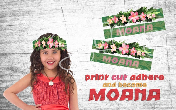 Printable Disney Moana Flower Crown