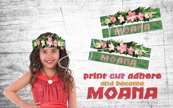 Printable Disney Moana Flower Crown