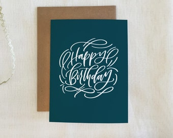 Handlettered  'Happy Birthday' Greeting Card