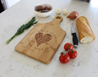 Custom Cheese Board, Custom Paddle Board,Personalized Cheese Board,Personalized Cutting Board,Custom cutting board --CB-PAD-Phil MaryStanley