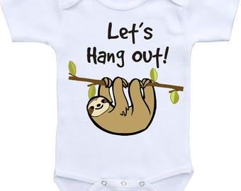Sloth Baby Bodysuit or Gerber Baby Onesie® Cute Baby Onesies® Cute Baby Gifts Cute Baby Clothes Boy Onesie® Girl Onesie® Baby Shower Gift