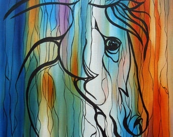 """Painting """"Head of horse"""""""